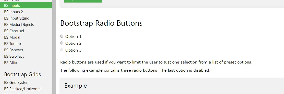 Bootstrap Radio button - tutorial