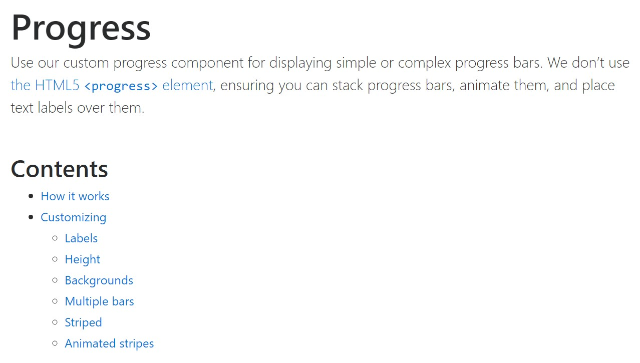 Bootstrap progress bar  approved  information