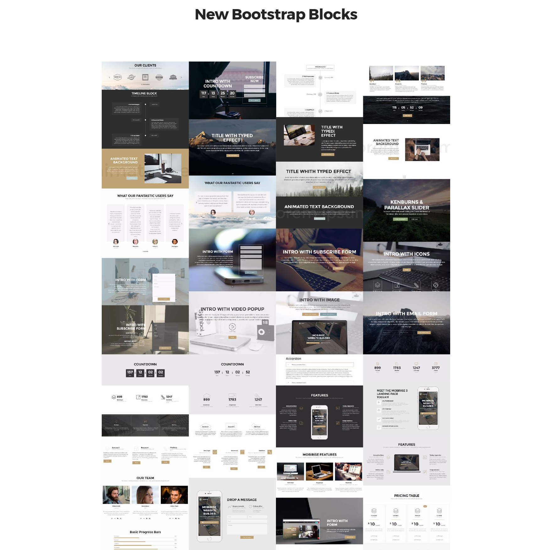 Free Download Bootstrap 4 mobile-friendly blocks Themes