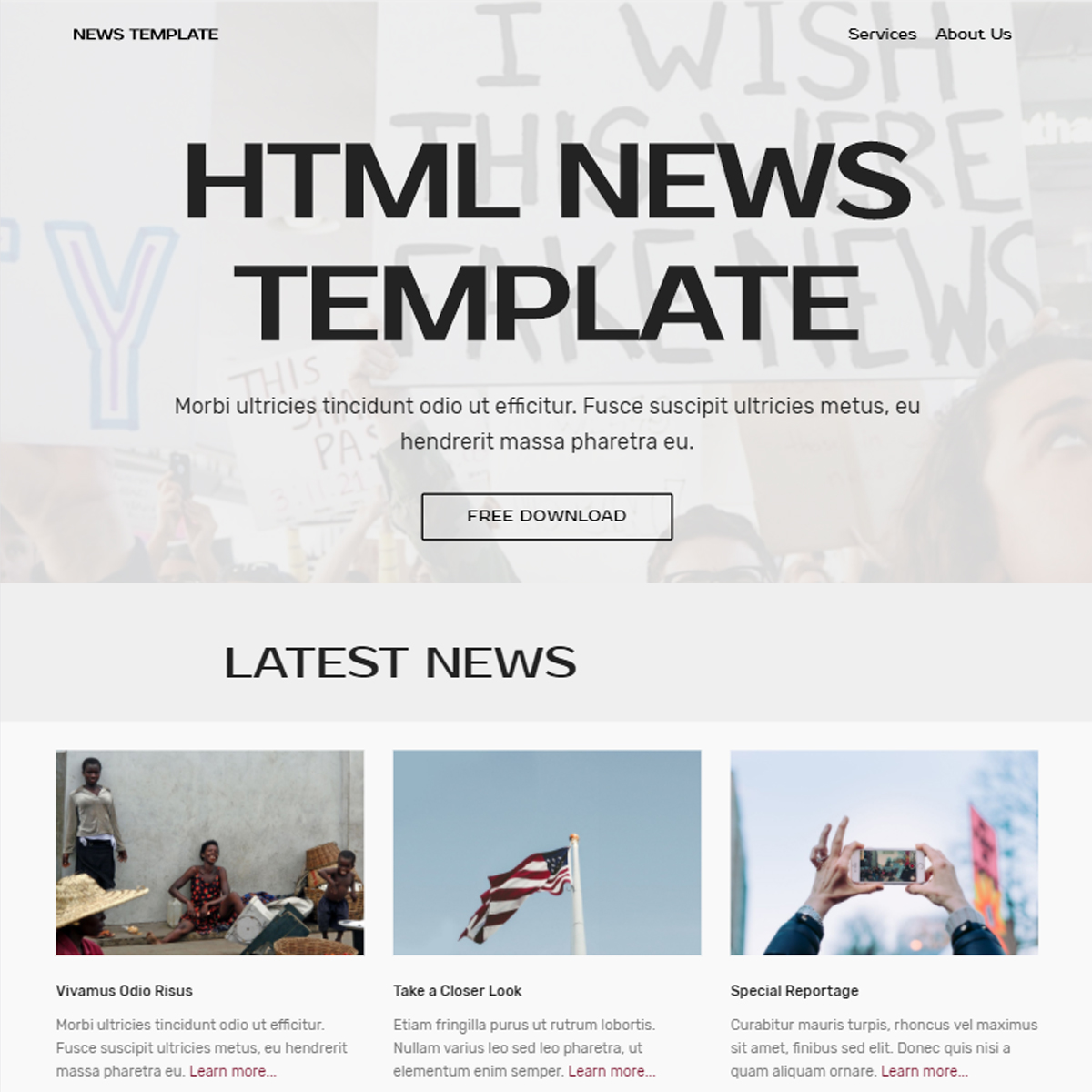 Responsive Bootstrap News Templates