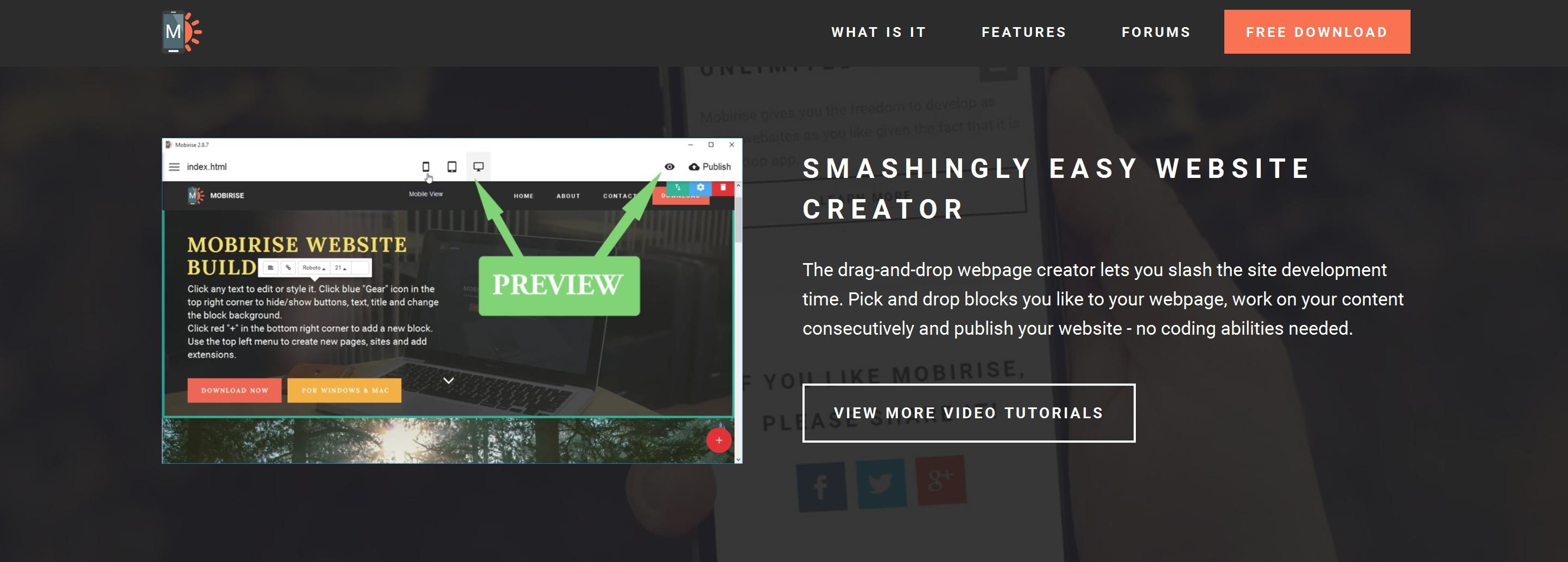 Responsive Web Page  Creator
