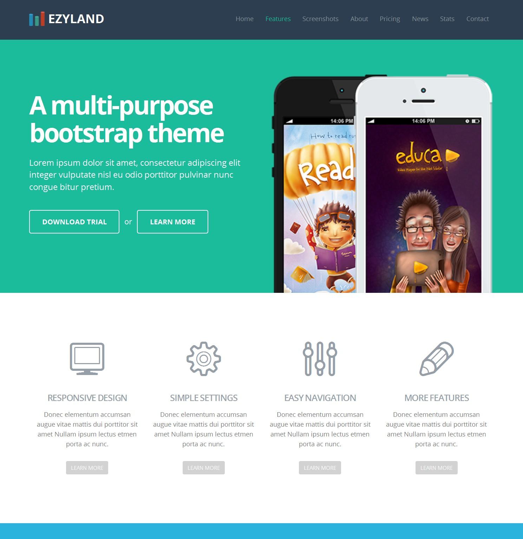 HTML5 Bootstrap Portfolio Theme