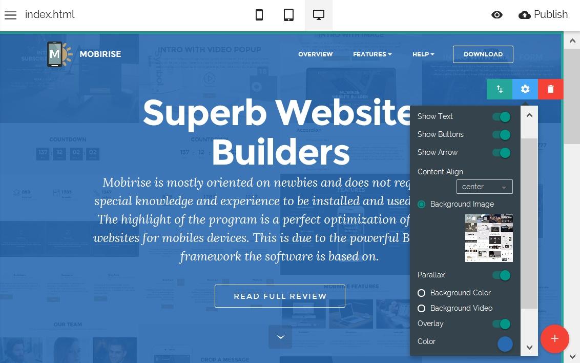 WYSIWYG Website Editor