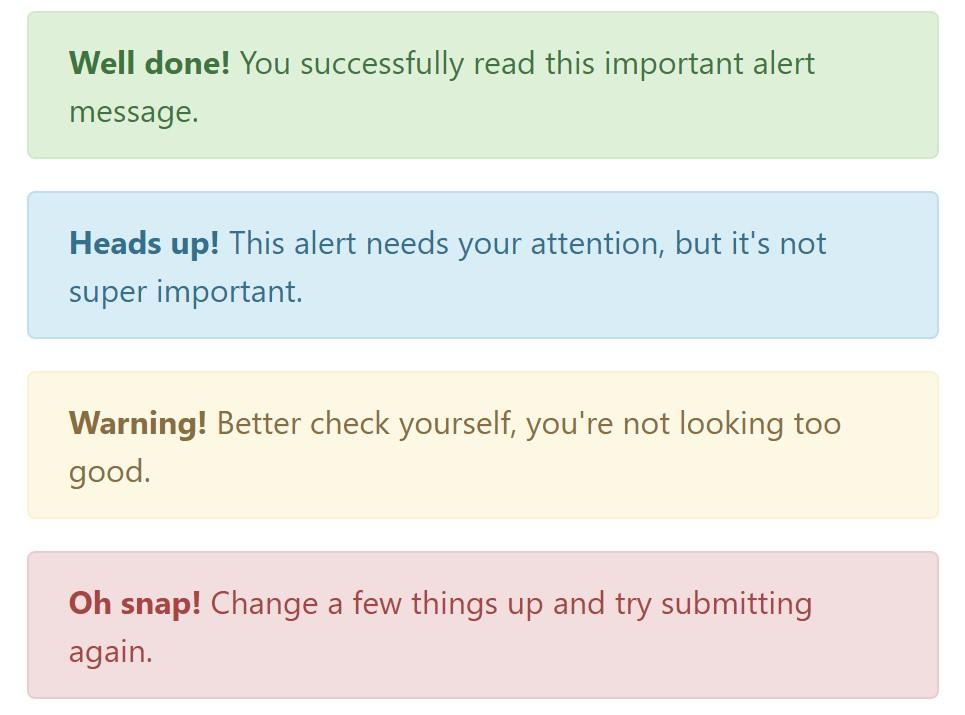 Bootstrap alert  illustrations