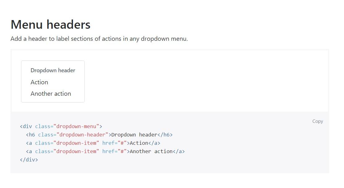Bootstrap Header:  main  documents