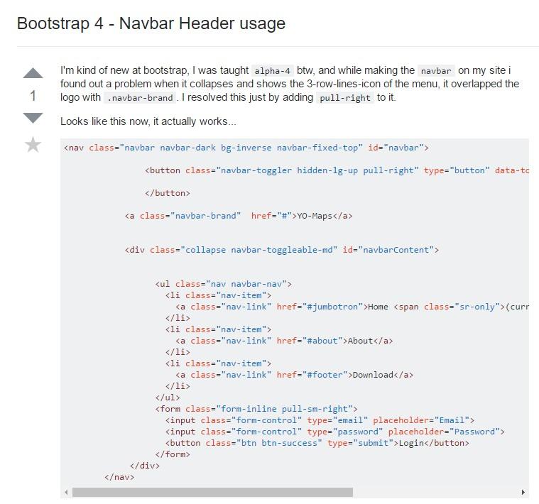 Bootstrap 4 - Navbar Header  application
