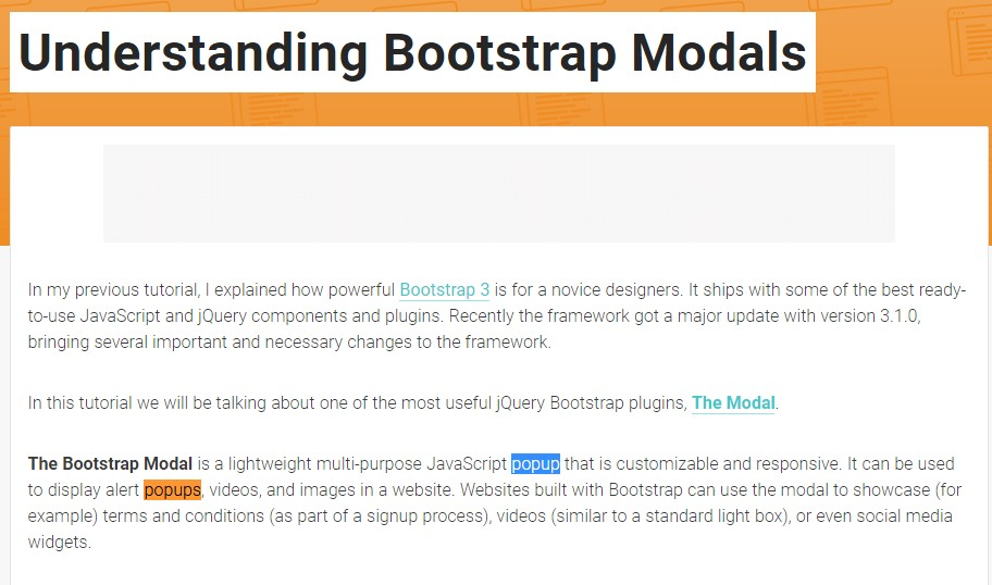 One more  valuable article  relating to Bootstrap Modal Popup