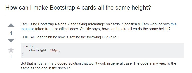 Insights on  just how can we  build Bootstrap 4 cards  all the same  height?