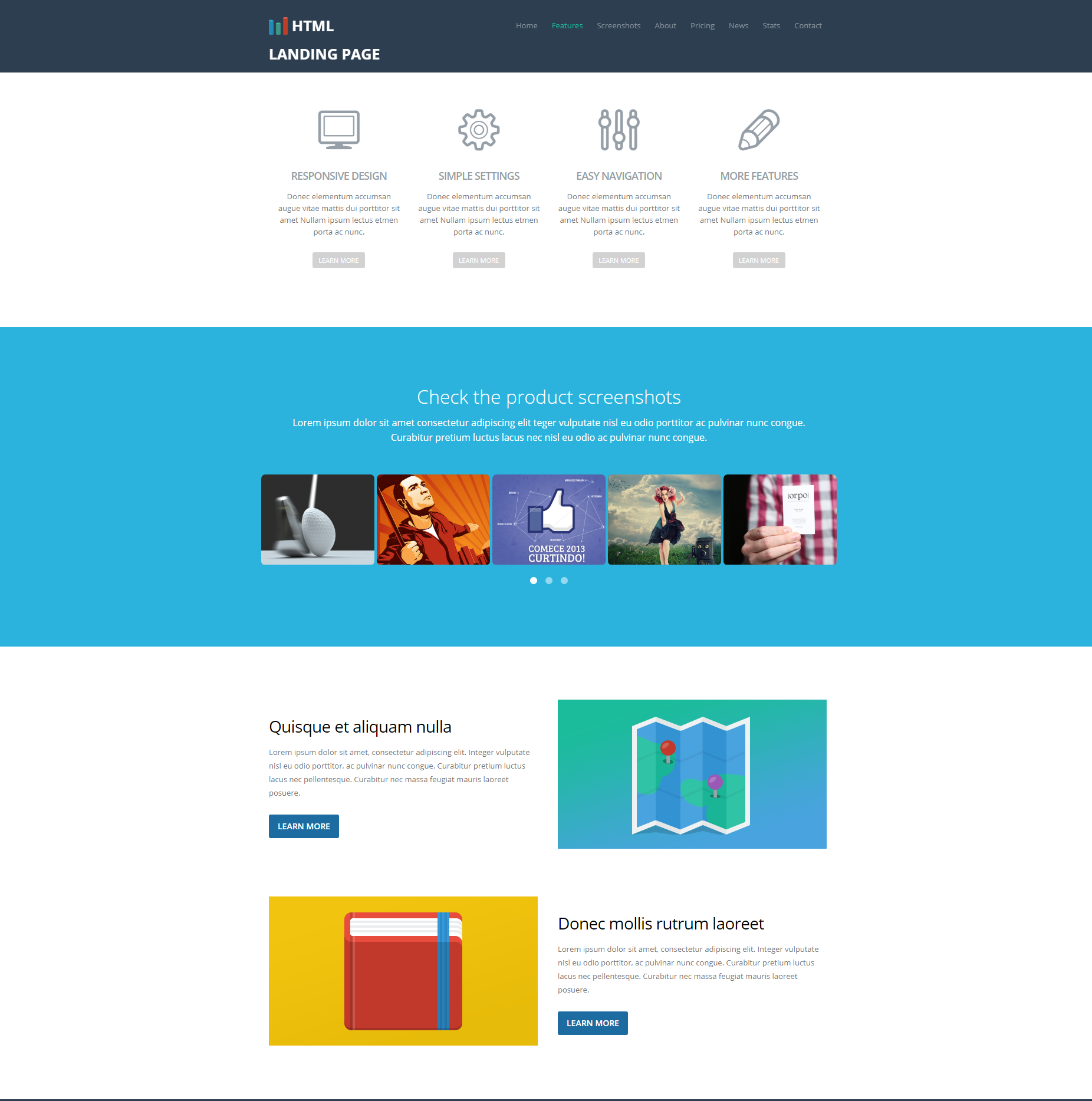 HTML Bootstrap Ezyland Templates